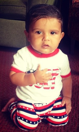 Snooki's son Lorenzo pictured on 4th of July 2913