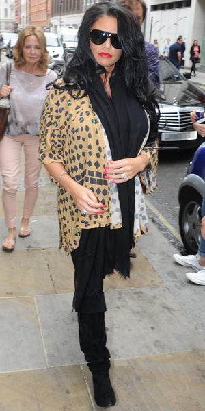 Pregnant Katie Price arrives at a hotel in central London - 4 July 2013