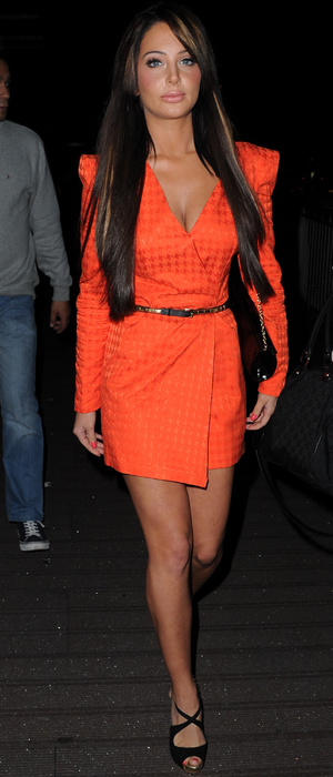 Tulisa Contostavlos arrives at Sakura restaurant in Manchester sporting a serious pout - 4 July 2013