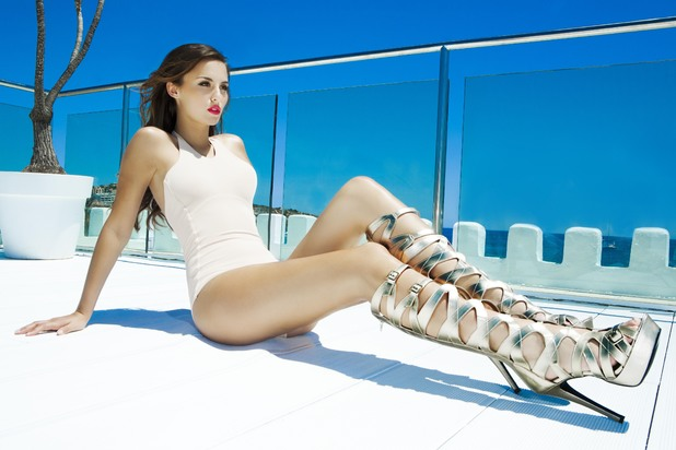 Lucy Watson models collection for Gorgeous Couture