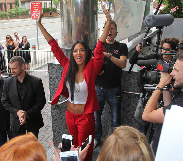 Nicole Scherzinger - X Factor judges arrive for auditions in Cardiff - 3.7.2013