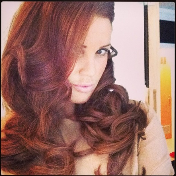 Danielle Lloyd shows off her new blow dried curls - 3 July 2013