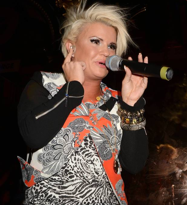 Kerry Katona performs at Dublin's Premier gay club 'The George'. Kerry arrived at the club with new fiance George Kay and joined Davina's 11 O'Clock Show to celebrate the 30th anniversary of Gay Pride - June 2013