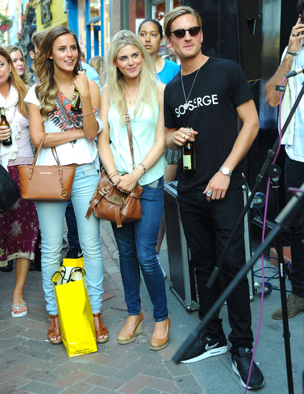 Head to Toe - Pop-Up Shop Launch Party, London, Britain - 04 Jul 2013 Lucy Watson, Ashley James and Oliver Proudlock