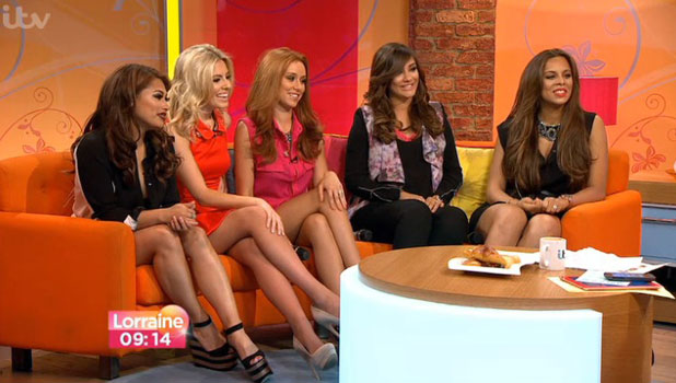 Frankie Sandford and the Saturdays on Lorraine, 1 July 2013