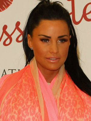 """Katie Price promotes her new fragrance """"Kissable"""" at Tesco Extra in Basildon, 11 July 2013"""