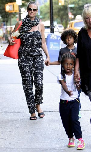 Heidi Klum and daughter Lou out and about with braided hair, New York, America - 07 Jul 2013