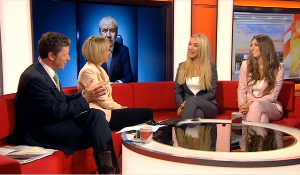 The Apprentice's Leah Totton and Luisa Zissman appear on BBC Breakfast - 11 July 2013