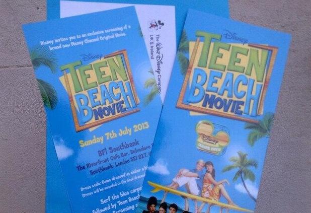 Harry Maxwell's Teen Beach Movie tickets - 12 July 2013