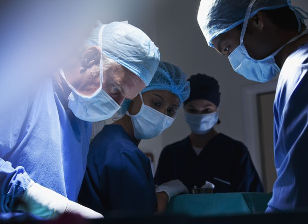 Stock image of doctors in theatre