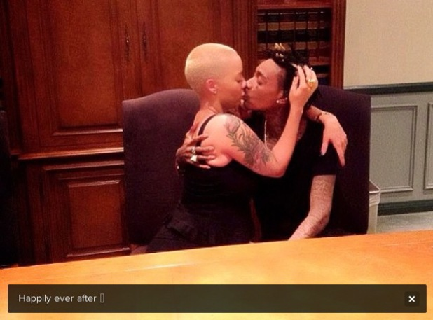 Amber Rose and Wiz Khalifa get married in the US - 9 July 2013