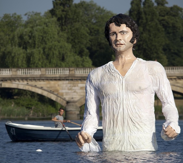The Mr Darcy statue is currently in Hyde Park, London