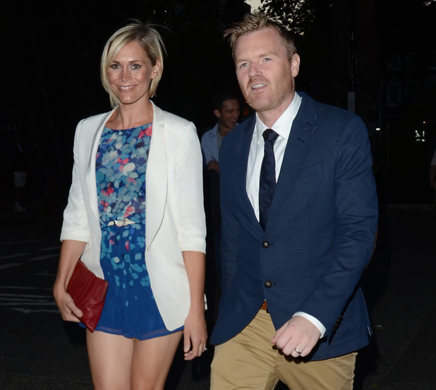 Jenni Falconer and James Midgley attending the private opening of OMEGA House - 28.7.2013