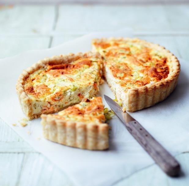 Cheese & Salmon Quiche