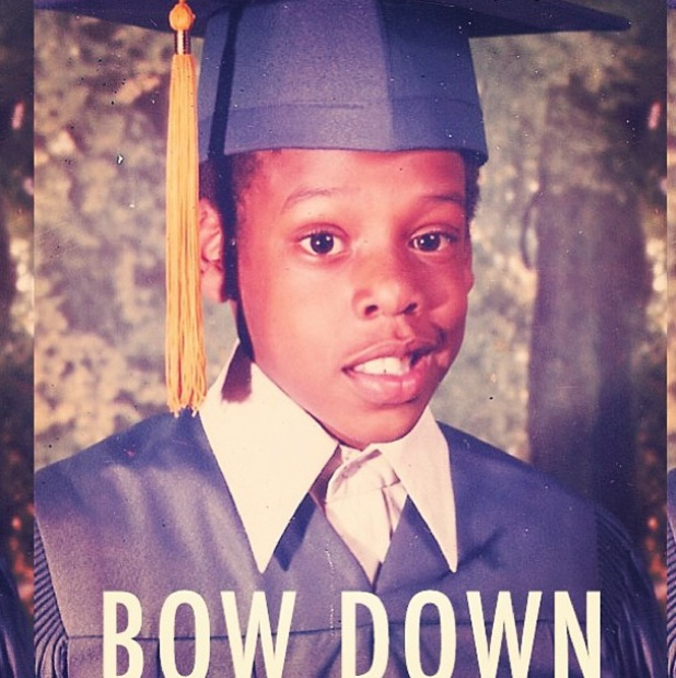 Beyoncé posts childhood picture of Jay-Z 'Bow Down' - July 2013