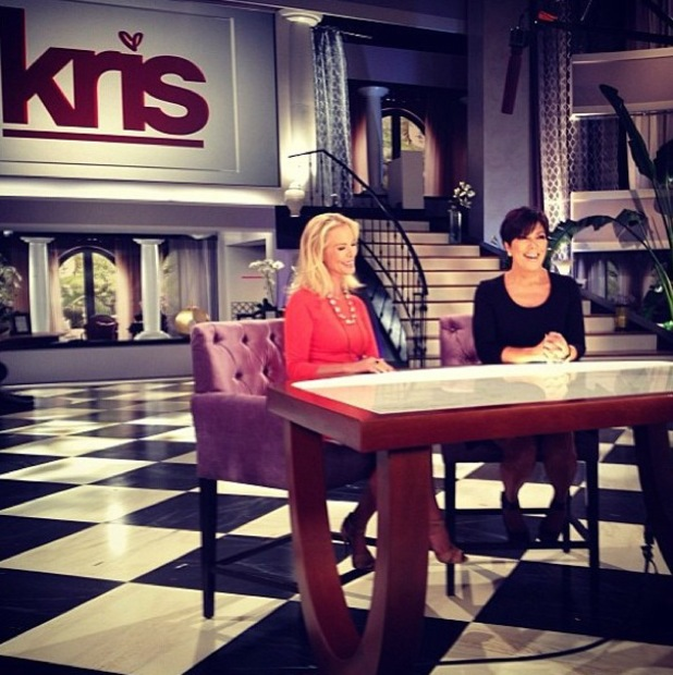 Kris Jenner shows fans the set of her new talk show - 11 July 2013