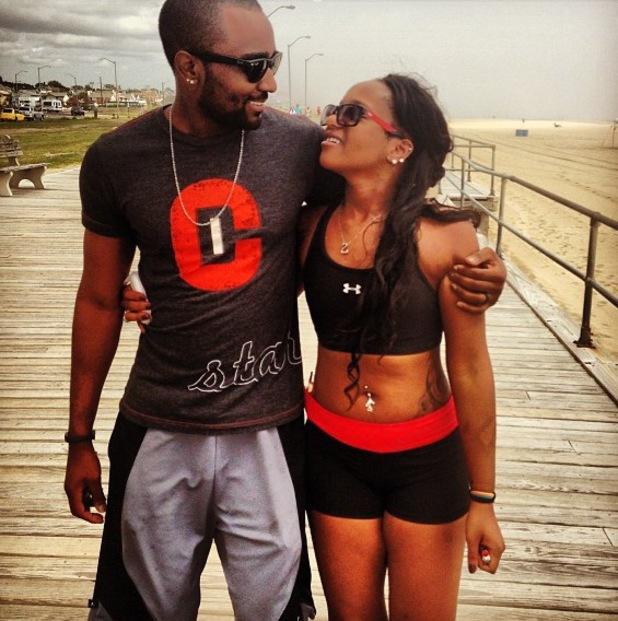 Bobbi Kristina and Nick Gordon on the beach - 2013