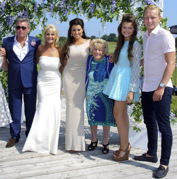 Carol Wright and Mark Wright Senior renew their wedding vows for 'The Only Way Is Essex' TV show, Essex, Britain - 06 Jul 2013 Mark Wright Senior Sr, Carol Wright, Jessica Wright, Nanny Pat and guests