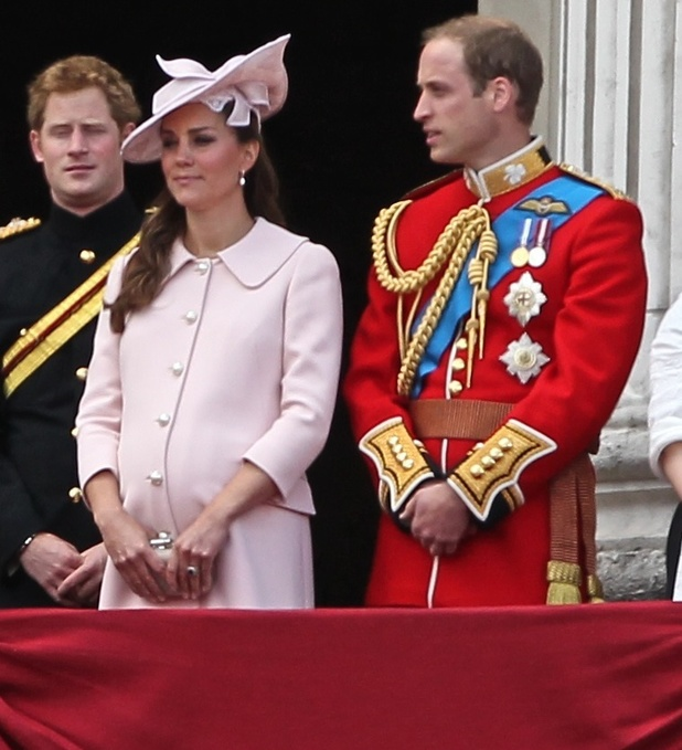 Trooping the Colour 2013 - The Queen's Birthday Parade - Horse Guards Parade. Duchess of Cambridge Kate Middleton. June 15.