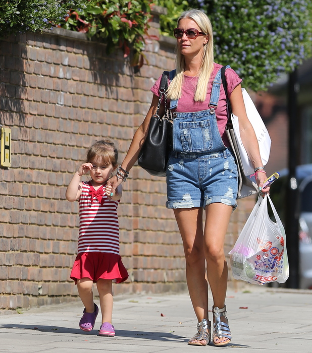 Denise Van Outen out with her daughter Betsy in Hampstead
