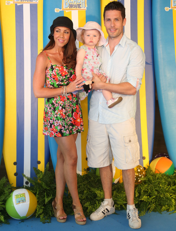 Michelle Heaton, Hugh Hanley, Faith: screening of Disney Channel's 'Teen Beach Movie' in- Arrivals - 7 July 2013