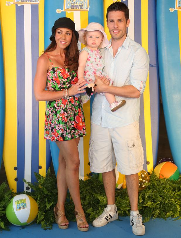 Michelle Heaton, Hugh Hanley, Faith: screening of Disney Channel's 'Teen Beach Movie' in- Arrivals - 7 July 2013