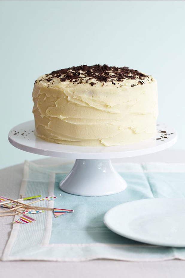 Low GI coconut and chocolate layer cake by Lucy Parissi