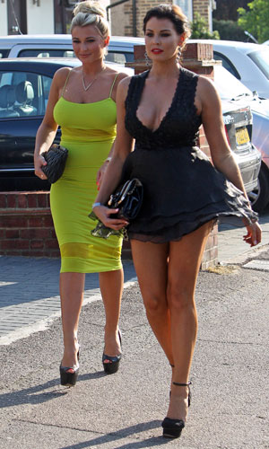 Jessica Wright and Billie Faiers en route to TOWIE wrap party, 10 July 2013