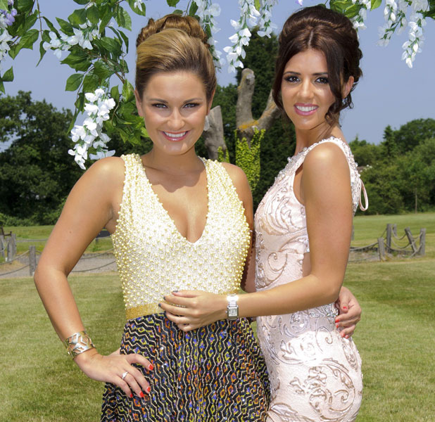 Lucy Mecklenburgh and Sam Faiers at Carol and Mark Wright's vow renewal, July 2013