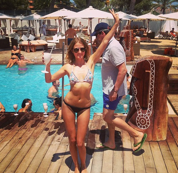 Millie Mackintosh in Majorca on holiday, 12 July 2013
