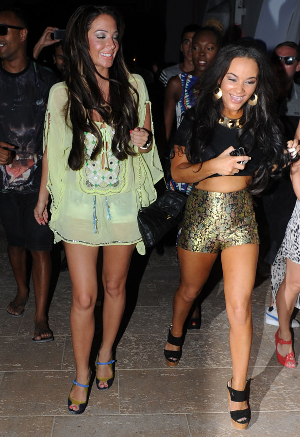 Chelsee Healey and Tulisa in Ibiza, 8 July 2013