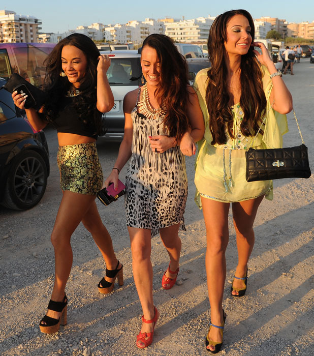 Tulisa and Chelsee Healey in Ibiza, 8 July 2013