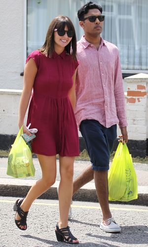 Jasmyn Banks and Himesh Patel take a walk through a sunny Borehamwood after taking a break from filming 'Eastenders' to grab some lunch - 15 July 2013
