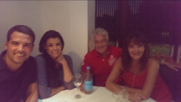 TOWIE's Jessica Wright and Ricky Rayment enjoy double date with his visiting parents, July 19 2013