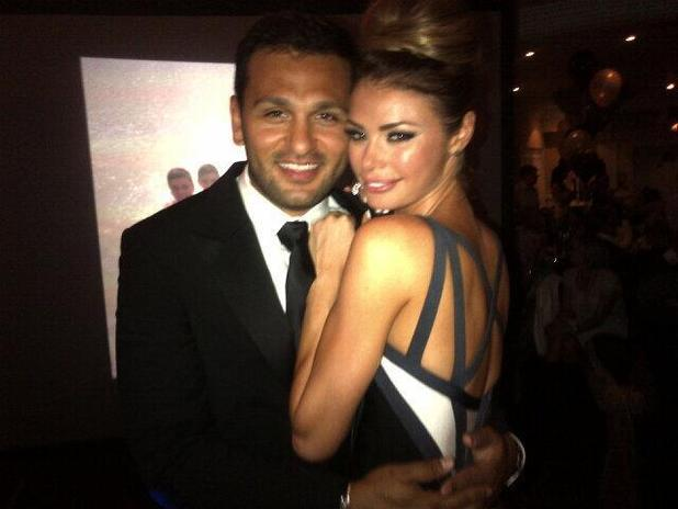 TOWIE's Chloe Sims poses at party with boyfriend Joe Fournier - 15 July 2013