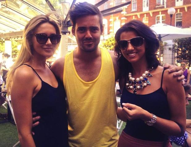Lucy Mecklenburgh, Spencer Matthews and Lucy Mecklenburgh pose at the Bluebird Cafe - 19 July 2013