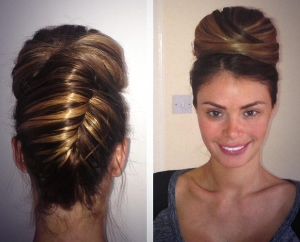 Chloe Sims chic updo posted on Twitter