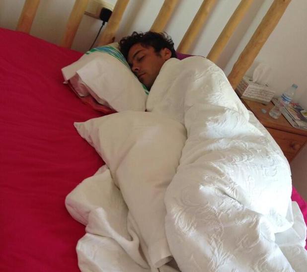 Andy Jordan asleep in Spain - July 2013