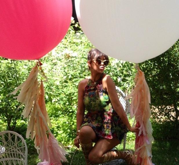 Kourtney Kardashian balloon party picture - 14 July 2013