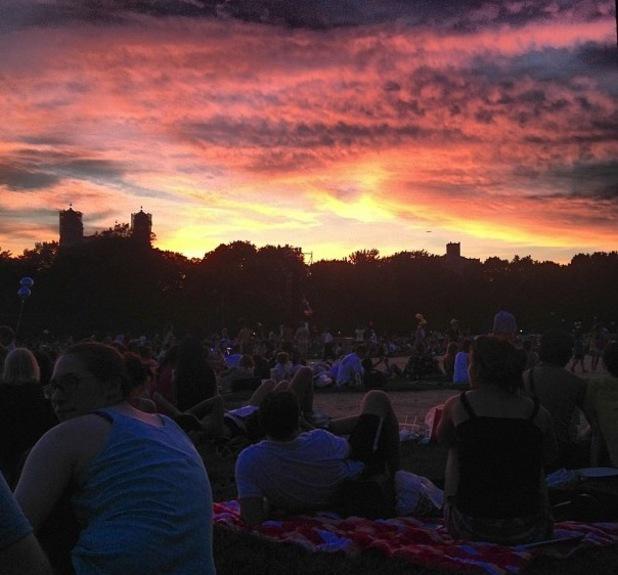Lo Bosworth enjoys concert in Manhatten, New York - 16 July 2013