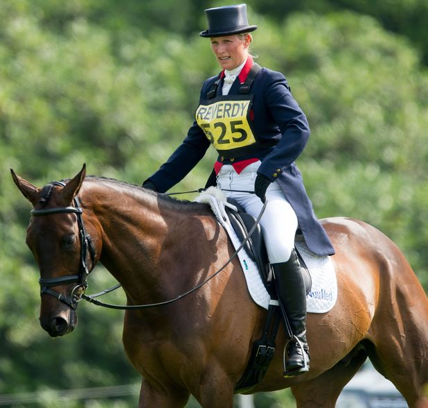 Brightling International Horse Trials, East Sussex, Britain - 14 Jul 2013 A Pregnant Zara Phillips competing