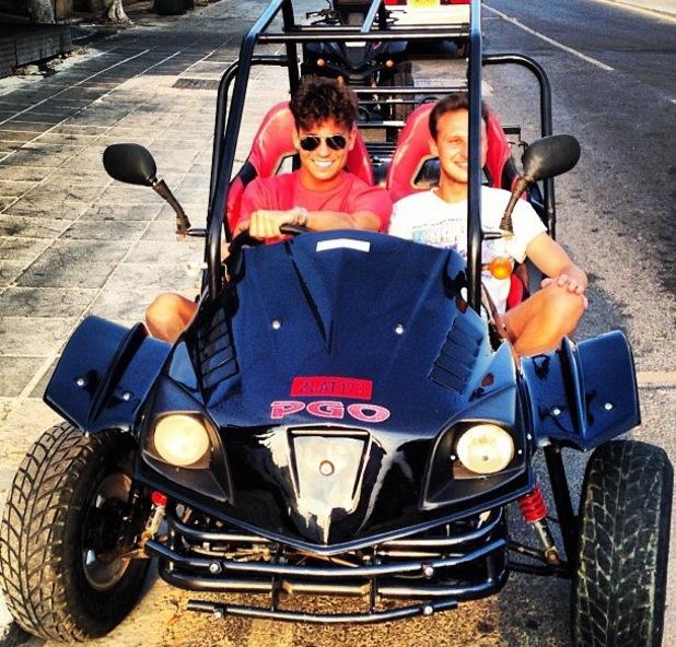 TOWIE's Joey Essex in Cyprus - 18 July 2013
