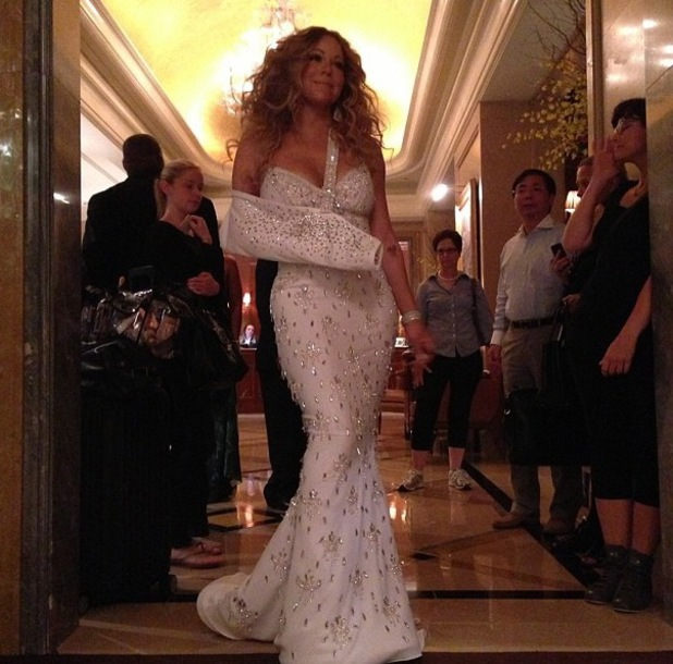 Mariah Carey wearing customised slings on her arm - MLB All Star Charity Concert, New York, 13 Jul 2013