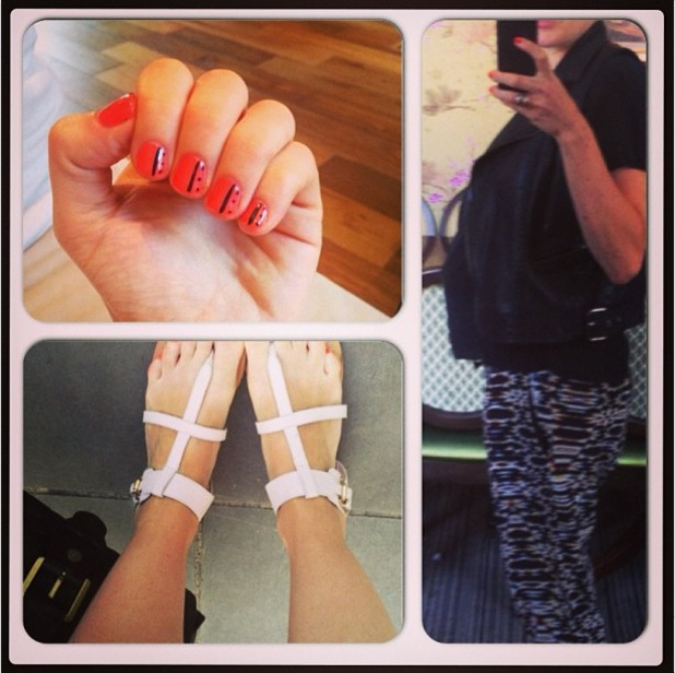 Pregnant Cherry Healey shares pictures of her summer maternity style - 16 July 2013