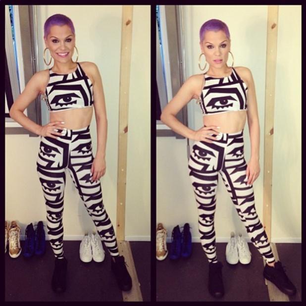 Jessie J dyes her shaved hair purple for Edinburgh show, 17 July 2013