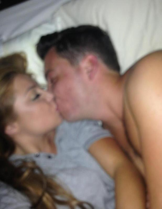 James 'Diags' Benniwith and Abi Clarke from TOWIE pictured kissing - 18 July