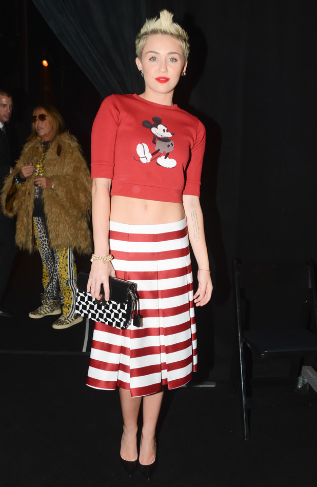 Miley Cyrus Marc Jacobs stripy outfit - 2013