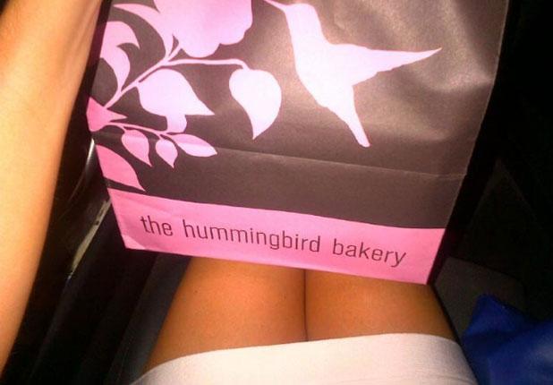 Chloe Sims gets a cupcake gift from boyfriend Joe Fournier, 17 July 2013