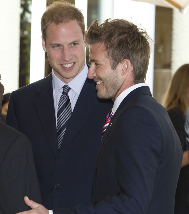 Prince William, Prince Harry and David Beckham attend a reception for FIFA Officials on behalf of the English Football Association in honour of the 2010 FIFA World Cup Johannesburg, South Africa - 19.06.10