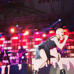 Jessie J performing at the Eden project, Cornwall (13 July)